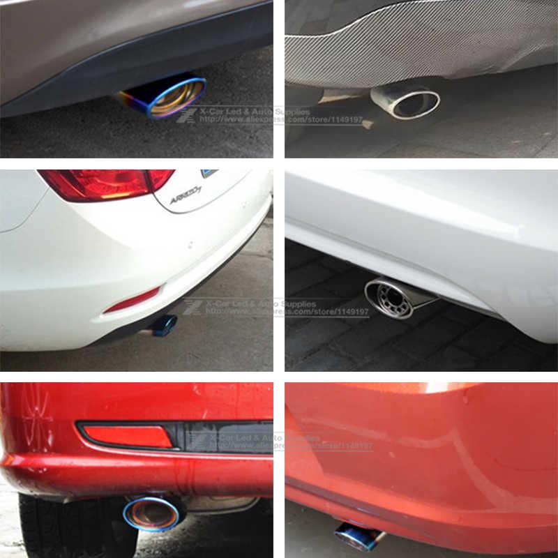 車の自動ラウンドエキゾーストマフラーヒントステンレス鋼管クロームトリム修正された車のリアテール喉ライナー Exhause 車スタイリング