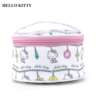 1pc Lovely Cute White Hello Kitty Cosmetic Bags Cartoon Girls Travel Makeup Bag Travel Organizer Party