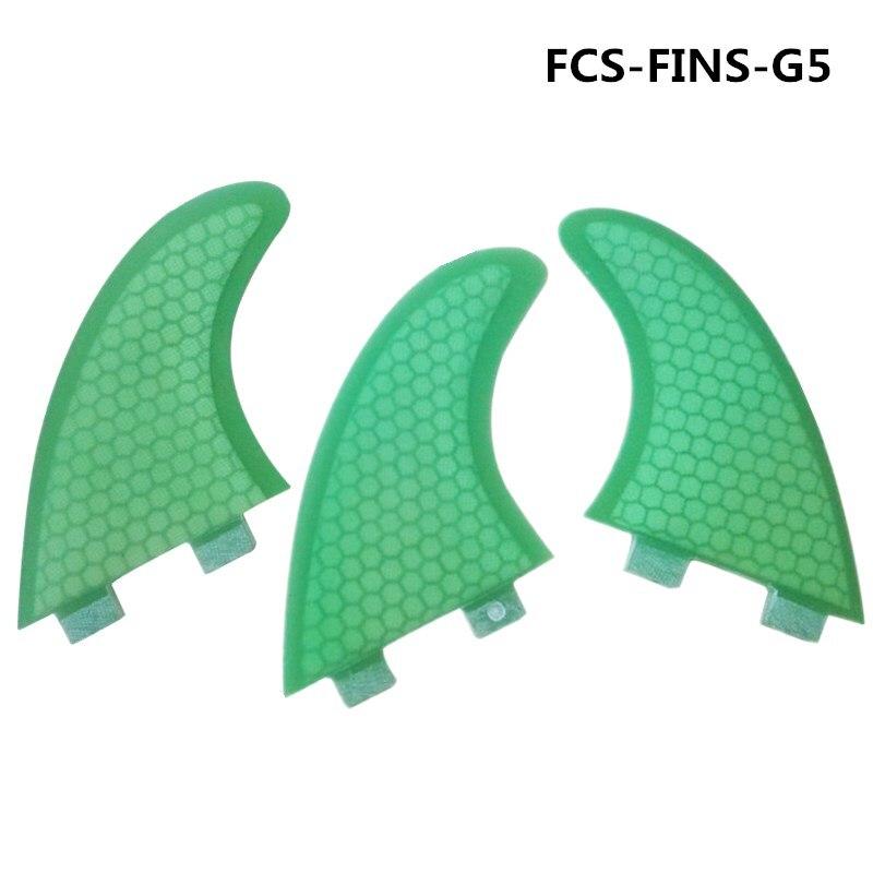 FCS Surf Quilhas G3/G7 Fin Grün Honeycomb Flossen Tri-quad Set SUP Surfbrett Fin in Surfen