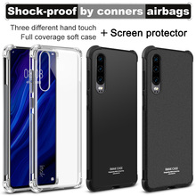 Imak Full Coverage Shockproof Airbag Soft Case TPU Cover for Huawei P30 Matte/Metal