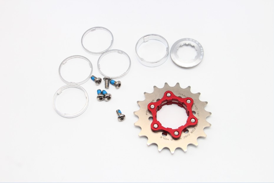 FOURIERS Fix Gear Single Speed Cog fix on Bike Hub Disc 16T 17T 18-23T Spacers