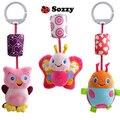 Sonajero toys animal toys toys bebé apaciguar campanas sonando campanas de viento bebé de juguete de felpa de alta calidad envío libre