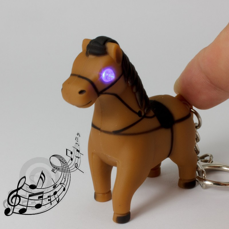The new design swift horse font b LED b font luminous sound light key chain Creative
