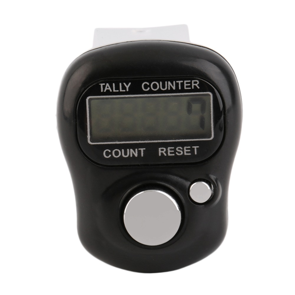 1pc Mini Digital LCD Electronic Digital Golf Finger Hand Held Tally Row Counter Tactical Counting Band Gym Fit Watch Equipment