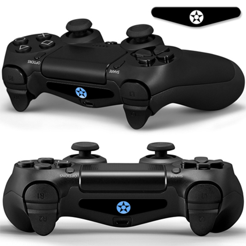 2 pieces Dustproof protective skin and vinyl material decal for PS4 LED Light Bar for Sony PlayStation 4 Game #TN-P4S LED-0110