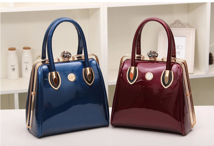 2017 Fashion Red Leather Bridal Wedding Hand Bag European Luxury Handbags Women Designer Sac A Main Luxe Vertical Bolso Boda In Top Handle Bags From