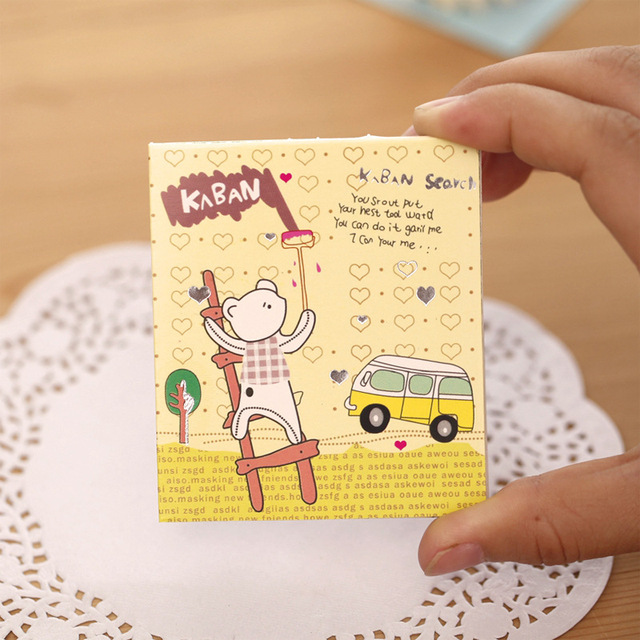 colorful cartoon greeting cards cute stamp postcard set gift card