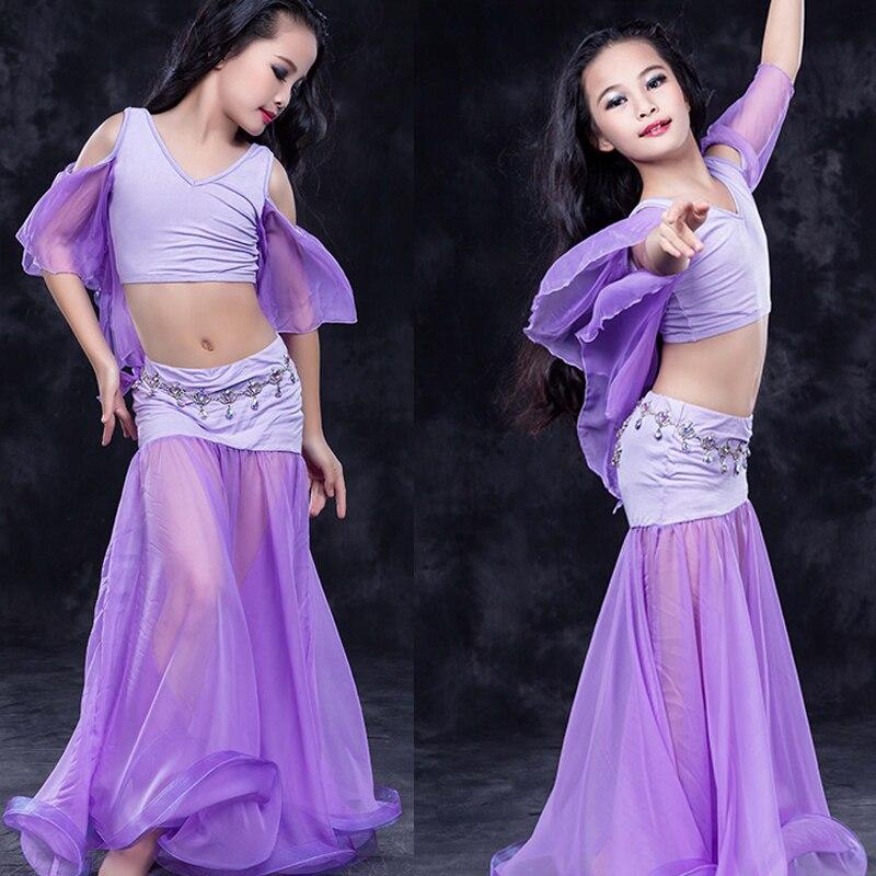 2179f3a6e7620 Children child girl Bellydance oriental Belly Indian dance dancing costumes  clothes bra belt scarf ring skirt