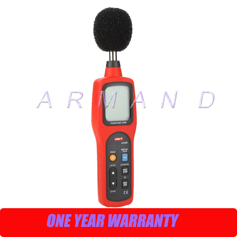 UNI-T UT352 Digital Sound Level Meter Decibel Noise Tester uni t ut353 mini digital sound level meters 30 130db instrumentation noise decibel monitoring testers metro diagnostic tools