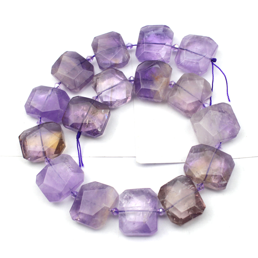 natural Ametrines stone beads natural GEM stone beads DIY loose beads for jewelry making strand 15