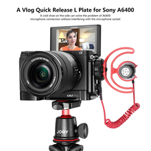 UURig R006 Vlog L Plate for Sony A6400 A6100 Vertical Quick Release With Cold Shoe Microphone QR Camera Bracket Holder