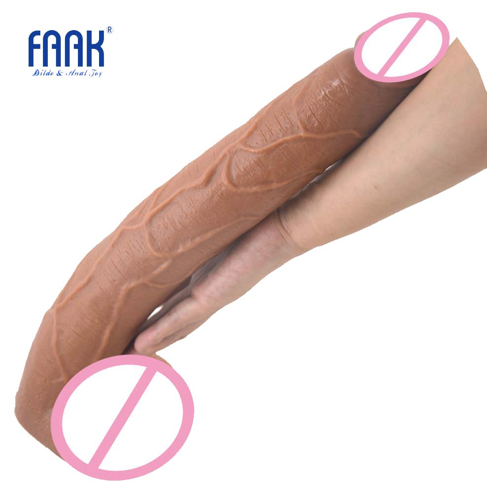 FAAK 15.5 long dildo brown realistic penis sex toys for women huge dildo giant erotic product lesbian flirt masturbate sex shop wearable penis sleeve extender reusable condoms sex shop cockring penis ring cock ring adult sex toys for men for couple