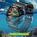 Sanda moda reloj de cuarzo hombres marca de lujo reloj de los hombres a prueba de agua a prueba de golpes relojes deportivos hombres reloj relogio reloj hombre