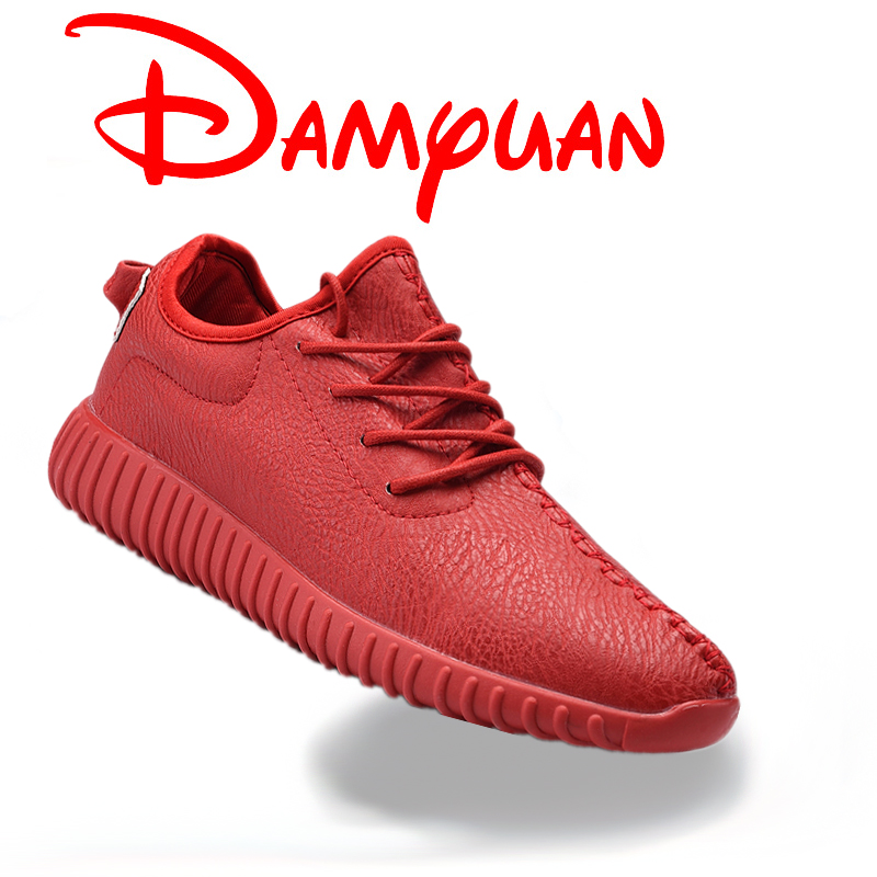 Males Flats Strolling Sneakers Informal Sneakers American Model Jogging Footwear Outside Pu Lace Up Cozy Sneakers