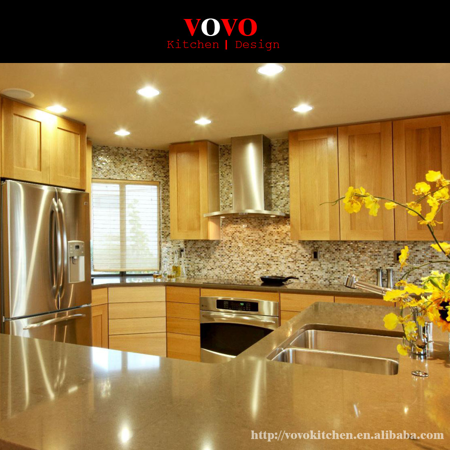 Retail High Quality Solid Wood Kitchen Furniture