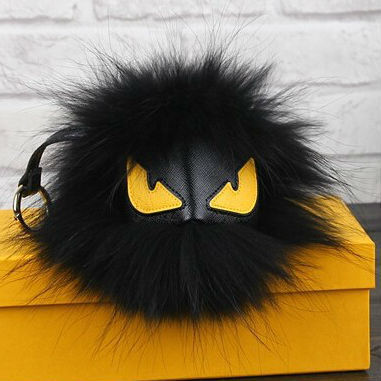 Fluffy Genuine Raccoon Fur Pom Pom Keychain Fur Ball Monster Bag Charm Women Plush Bag Accessories Key Chains Key Ring