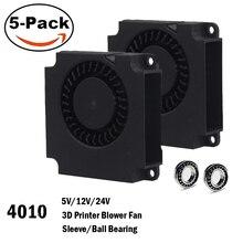5 шт. Gdstime 4010 вентилятор 40 мм 40x40x10 мм 5 в 12 В 24 В 2Pin DC кулер небольшой вентилятор охлаждения для 3D принтера часть