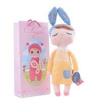 13 Inch Kawaii Pluche Knuffeldier Cartoon Kinderen Speelgoed voor Meisjes Kinderen Baby Verjaardag Kerstcadeau Angela Konijn Meisje Pop