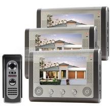 DIYSECUR 7″ Door Bell Wired Video Door Phone System Home Security Entry 2 Way Intercom IR Camera