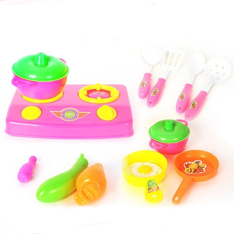 Hot 13 Pcs Set Kids Pretend Play Toys Mini Plastic Kitchen Accessory Children Game Classic