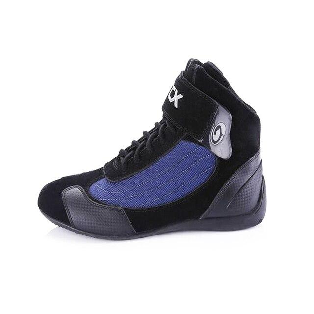 Arcxオートバイの牛の革ブーツストリートモト靴バイクバイクモトクロスチョッパーブーツレース保護保護ブーツ
