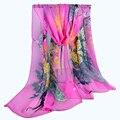 Женщины Шарфы Новый Печати Взрослых Женщин Способа Жоржетта женская Тонкий длинный Шифоновый шарф фуляры Бандана femme hiver sjaal