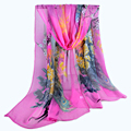 Women Scarves New Print Adult Fashion Women Bandana Georgette Women's Thin long Chiffon scarf foulard femme hiver sjaal