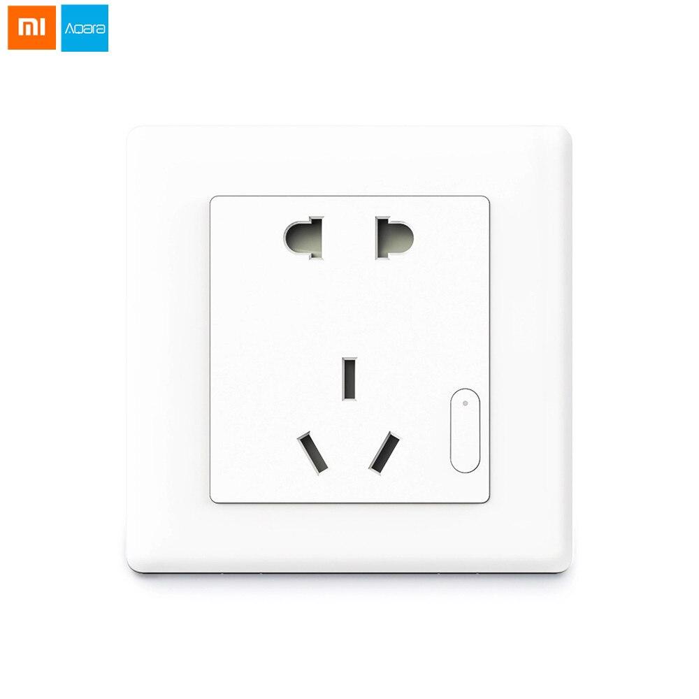 Xiaomi Série Aqara Zigbee Version Smart Prise Murale UE UA Ports Intelligent Sans Fil Télécommande Avec Téléphones Pour La Maison Intelligente