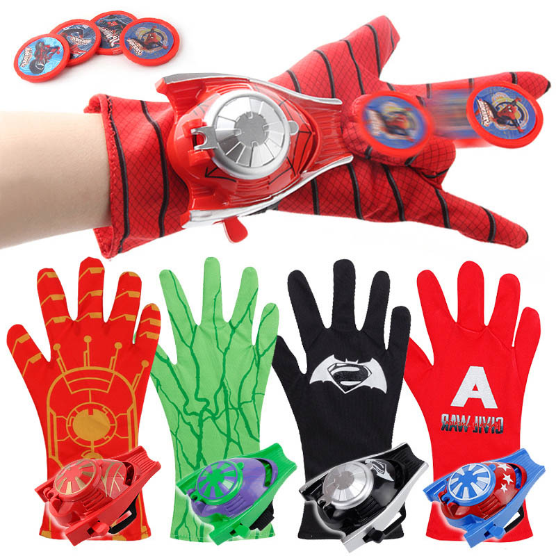 Hot Marvel Avengers Super Heroes Glove Laucher Props Spiderman Batman Hulk Iron man Cosplay Cool Gift Glove Launcher For KidHot Marvel Avengers Super Heroes Glove Laucher Props Spiderman Batman Hulk Iron man Cosplay Cool Gift Glove Launcher For Kid