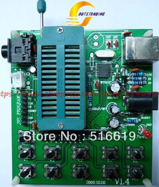 WT588D Downloader/voice Downloader/SPI Flash Downloader/WT588D Test Plate