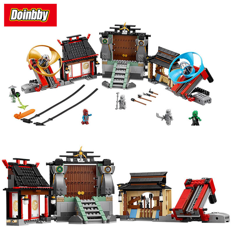 Lepin 06033 Ninja Movie Series Airjitzu Battle Grounds Building Block Bricks Toys Kids Gifts Compatible Ninjagoes 70590 lepin 06037 compatible lepin ninjagoes minifigures the lighthouse siege 70594 building bricks ninja figure toys for children