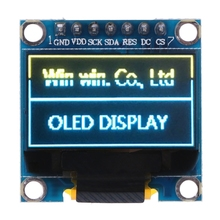 "Big sale OOTDTY 0.98"" OLED Module Blue Yellow Color 128X64 LCD Display SPI Module For Arduino"