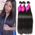 7A Grade Brazilian Virgin Hair Straight 3 Bundles Brazilian Straight Hair Extension Straight Virgin Hair Bundles Brazilian Hair