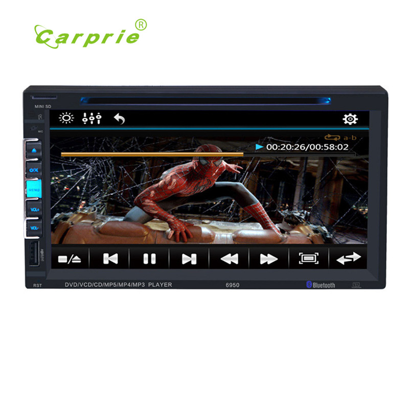 7 Touchscreen Bluetooth Car Stereo DVD/CD/MP3 Player Double 2Din In Dash USB SD mp3 audio  drop shipping new hot 17june26 jojo 3 teachers guide audio cd