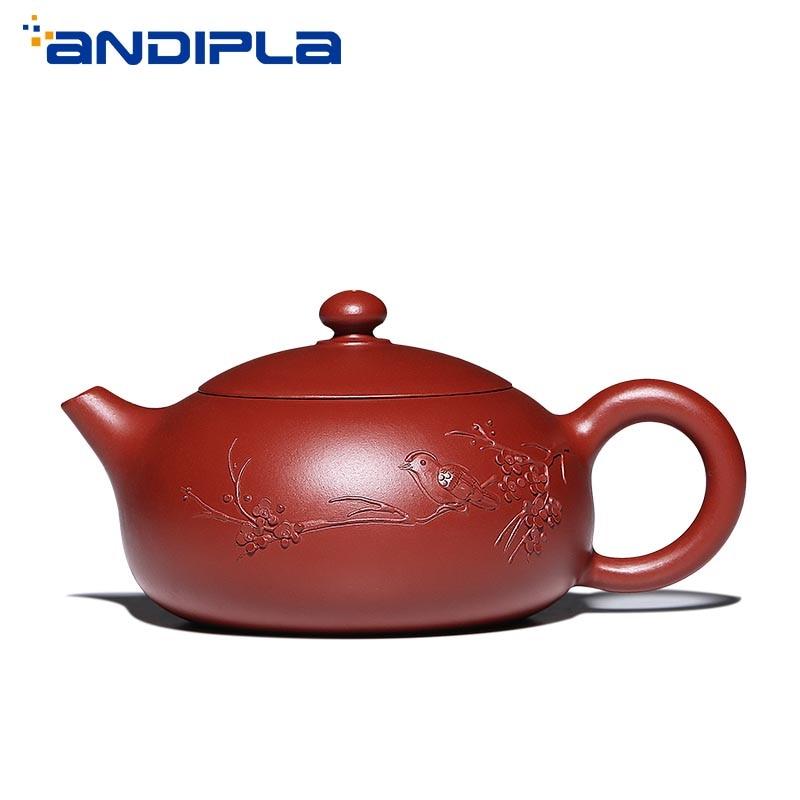 140cc аутентичный Yixing чайный горшок Слива Xi Shi горшок ручной работы Китайский Здоровый Zisha чайный набор кунг фу чайный набор Фиолетовый Глинян