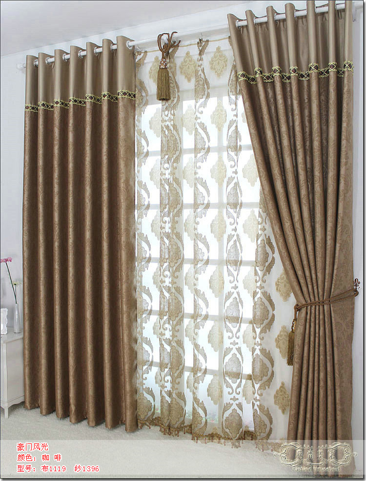 Suede High Grade Thick Blackout Curtains Bedroom Living Room