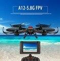 Attop A12 FPV RC Drone Kit 2.4 Г 4CH 6 Оси 5.8 Г в реальном времени передачи монитор RC НЛО Quadcopter с 2.0MP HD Камера VS Q333