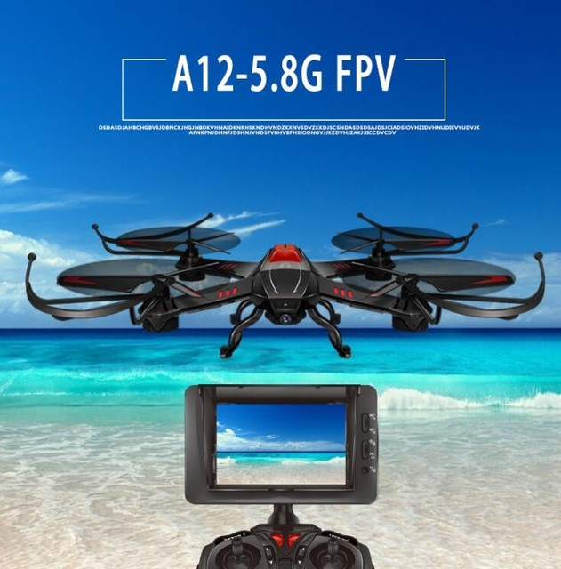 Attop A12 FPV RC Drone Kit 2.4G 4CH 6 Axis 5.8G Realtime transmission monitor RC UFO Quadcopter with 2.0MP HD Camera VS Q333