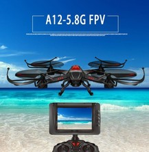 Attop A12 FPV RC Drone Kit 2.4G 4CH 6 Axis 5.8G Realtime monitor transmisi RC UFO Quadcopter dengan Kamera 2.0MP HD VS Q333