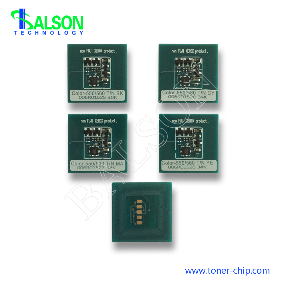 Free shipping <font><b>toner</b></font> chip for <font><b>xerox</b></font> color <font><b>550</b></font> 560 cartridge reset chips 006R01525 006R01528 006R01527 006R01526 image