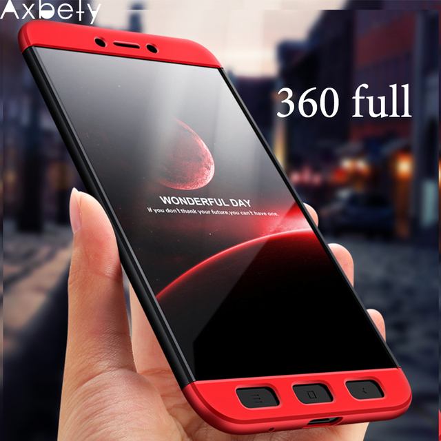 wholesale dealer 593e8 a5852 US $2.58 35% OFF|AXBETY For Redmi 5 Plus 360 Full Body Phone Case For  xiaomi Redmi 5 Plus Case Hard PC Hybrid Plastic Protect Cover For Redmi  5a-in ...