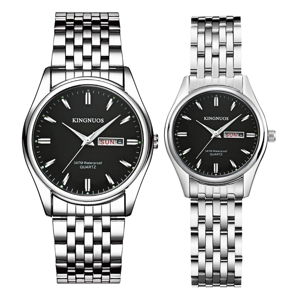 Couple Watches 2019 Fashion Steel Quartz Wrist Watch For Men Women Watches Erkek Kol Saati Clock Duobus Vigilate Lover's Watches