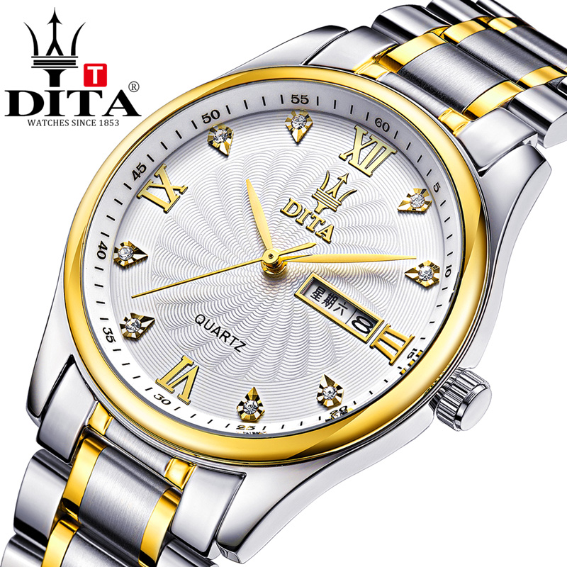 DITA Watch Men Business Waterproof Clock Mens Watches Top Brand Luxury Fashion Casual Sport Quartz Wristwatch Relogio Masculino new listing men watch luxury brand watches quartz clock fashion leather belts watch cheap sports wristwatch relogio male gift