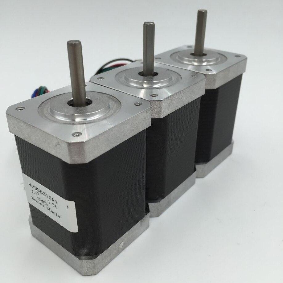 Nema17 Stepper Motor 3PCS/Lot Two Phase 48mm 1.3A Motor 0.4NM/ 57oz.in for 3D Printer and CNC XYZNema17 Stepper Motor 3PCS/Lot Two Phase 48mm 1.3A Motor 0.4NM/ 57oz.in for 3D Printer and CNC XYZ