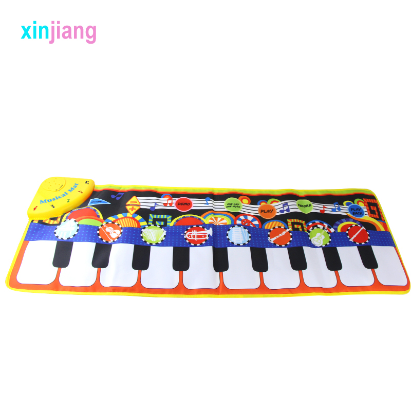 Kids Toy 36x110cm Cool Baby Musical Mats Piano Mat Carpet With Different Instruments Tone Educational Toys Play Mat For Kids