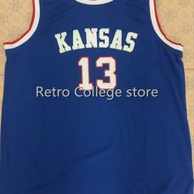3042d9f1e39 Kansas Jayhawks 13 Wilt Chamberlain Mens Basketball Jersey Stitched Customize  any name and number(China
