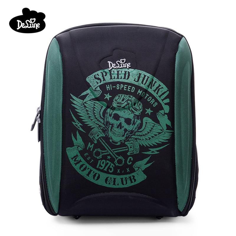7de8ba26dc7c Delune брендовые Новый стиль детская 3D ортопедический школьный рюкзак  первоклассника Класс, для детей от 1 года до 5 лет для мальчиков и девочек.