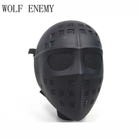 Hot Sale Tactical Full Face Hockey Type Airsoft Mesh Goggle Mask Black
