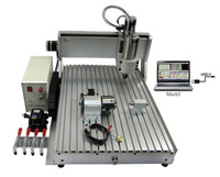 1 5KW Spindle LY 4 Axis CNC Router 6040 Z VFD USB Desktop Cnc Lathe Jewelry