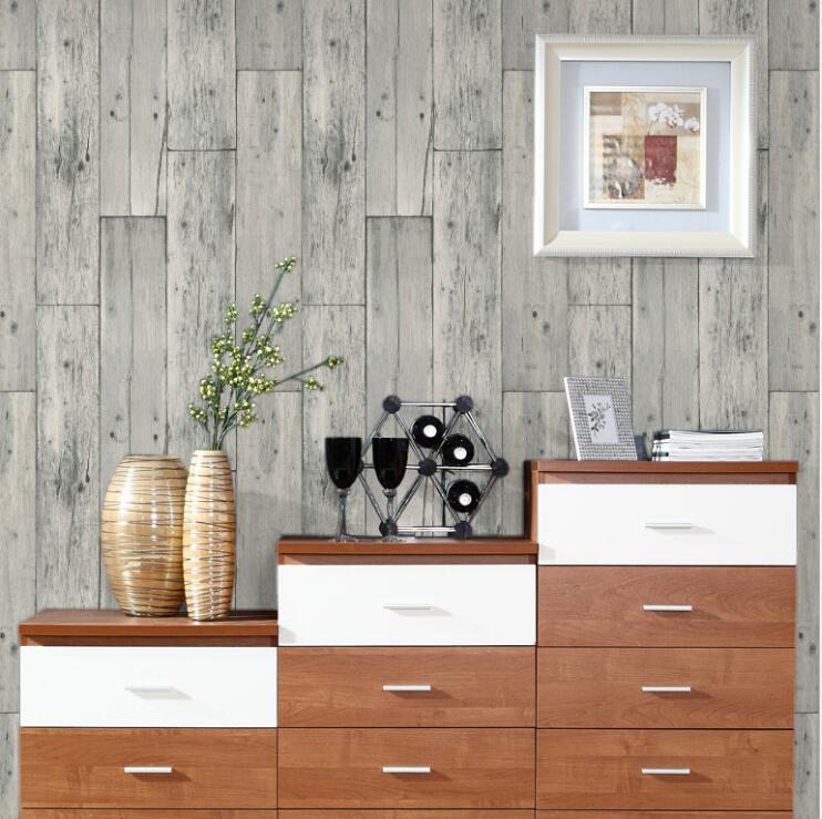 Wallpaper For Homes Wall Covering : Natural style country vintage wood board texture wallpaper